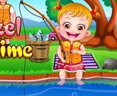 Игра Малышка Хейзел Рыбачит фото