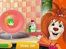 Игра Барбоскина лиза моет посуду фото