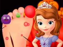 Игра Лечим ногу принцессы фото