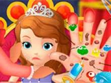 Игра Принцесса лечит руку фото