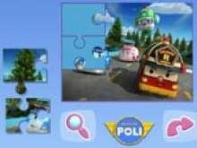 Игра Робокар Поли пазлы для детей фото
