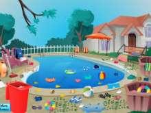 Игра Уборка бассейна фото