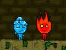 Игра Огонь и Вода 3 в лесном храме фото