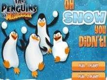 Игра Пингвины из Мадагаскара снежки фото