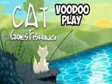 Игра Котик ловит рыбку фото