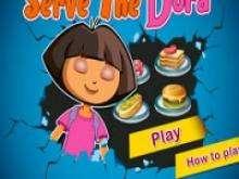 Даша следопыт готовит еду