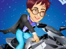 Гонки на мотоцикле с Гарри Поттером