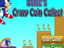 игра Соник  на машине собирает монеты
