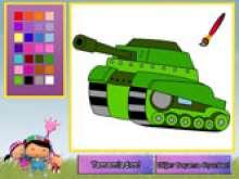 Раскраска танка