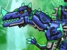 игра Собрать робота динозавра