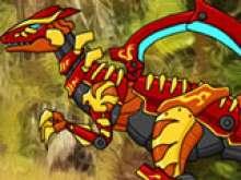 Роботы динозавры  - битва