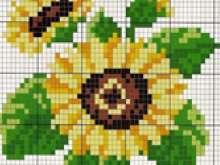 Вышивка цветок крестиком