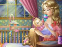 Уложи маленькую Барби спать