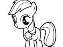 Раскраска пони для девочек 3 лет