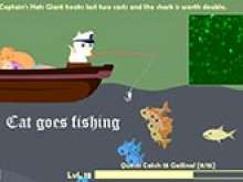 Cat gone fishing